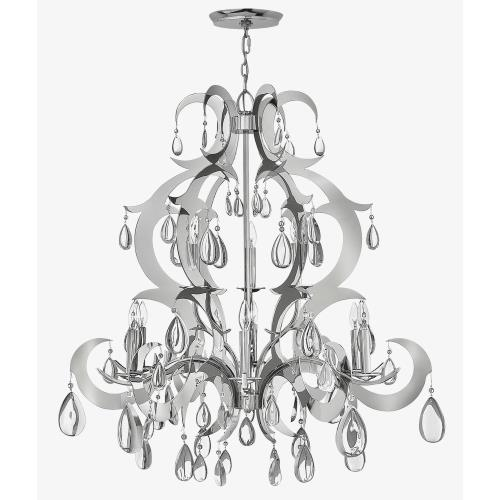 Fredrick Ramond Lighting FR43358PSS Xanadu - Nine Light Chandelier