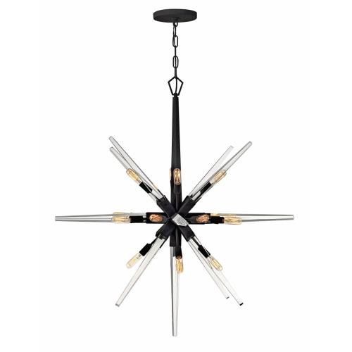 Fredrick Ramond Lighting FR47408BLK Ariel - Sixteen Light Large Orb Chandelier