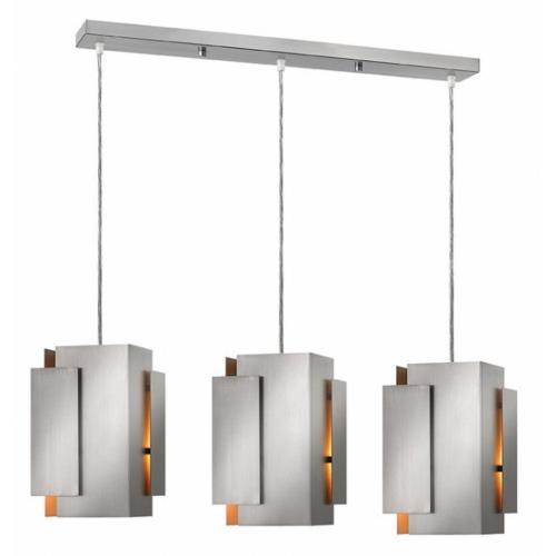 Fredrick Ramond Lighting FR30409B Stratus - 36.75 Inch Three Light Pendant