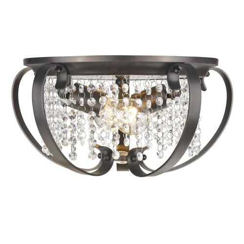Golden Lighting 1323-FM Ella - 2 Light Flush Mount