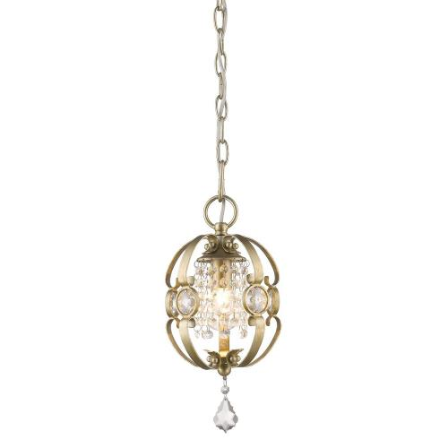 Golden Lighting 1323-M1L Ella - 1 Light Mini Pendant