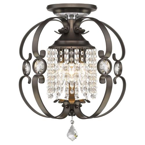 Golden Lighting 1323-SF Ella - 3 Light Semi-Flush Mount
