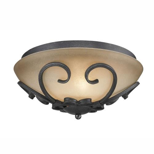 Golden Lighting 1821-FM BI Madera - 3 Light Flush Mount