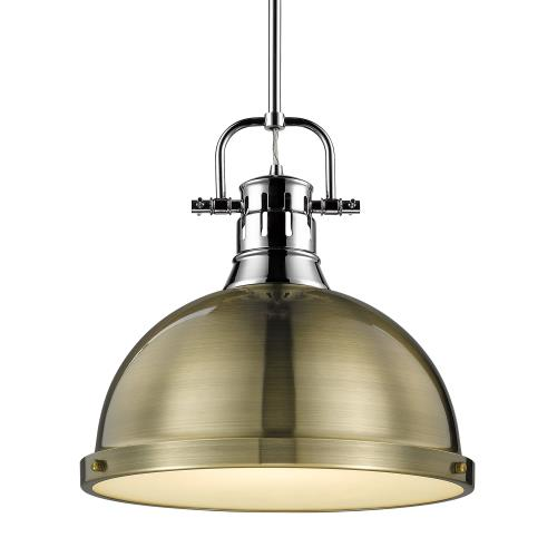 Golden Lighting 3604-L Duncan - 1 Light Rod Pendant