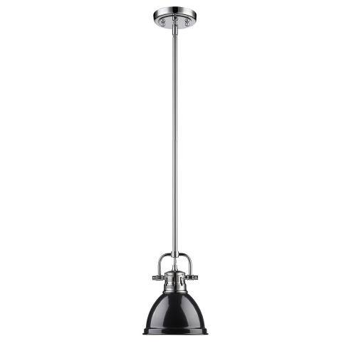 Golden Lighting 3604-M1L Duncan - 1 Light Mini Pendant with Rod