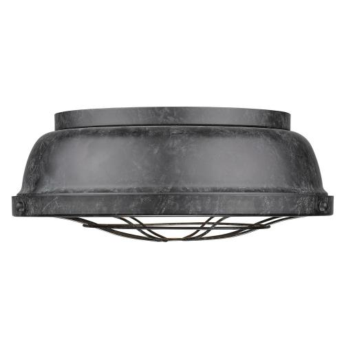 Golden Lighting 7312-FM Bartlett - 2 Light Flush Mount in Traditional style - 5.5 Inches high by 14 Inches wide