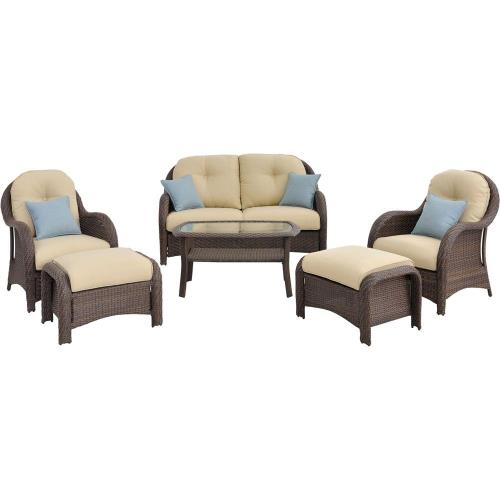 "Hanover NEWPORT Newport - 64"" 6-Piece Seating Set"