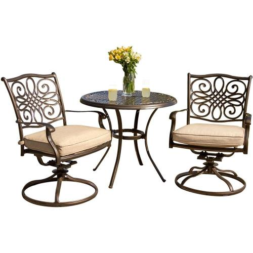 "Hanover TRADITIONS3PCSW Traditions - 32"" 3-Piece Bistro Set"