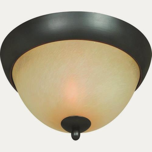 Hardware House 54-3744 Berkshire - Two Light Flush Mount