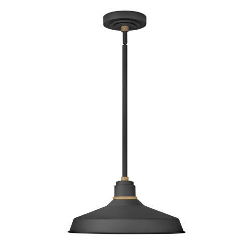 Hinkley Lighting 10483 Foundry Classic - 1 Light Outdoor Pendant Barn Light in Traditional, Industrial Style - 16 Inches Wide by 7.5 Inches High