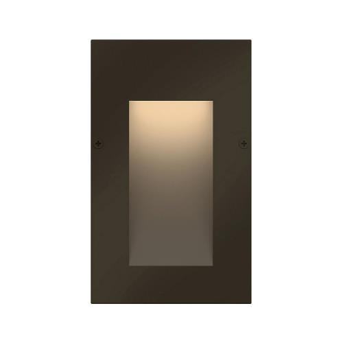 Hinkley Lighting 1562 Taper - 12V 1.2W LED Vertical Step Light - 3 Inches Wide by 5 Inches High