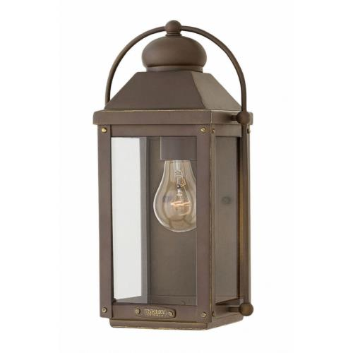 Hinkley Lighting 1850 Anchorage - 1 Light Small Outdoor Wall Lantern in Traditional Style - 7 Inches Wide by 13 Inches High