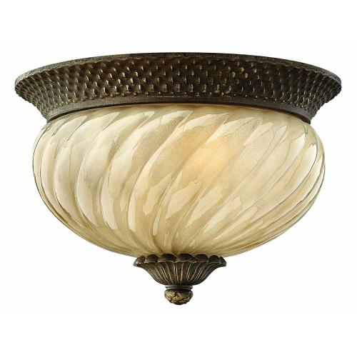 Hinkley Lighting 2128 Plantation - One Light Outdoor Flush Mount