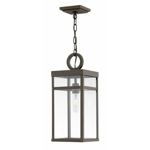 Hinkley Lighting 2802 Porter - 1 Light Medium Outdoor Hanging Lantern in Transitional Style - 7.5 Inches Wide by 19 Inches High