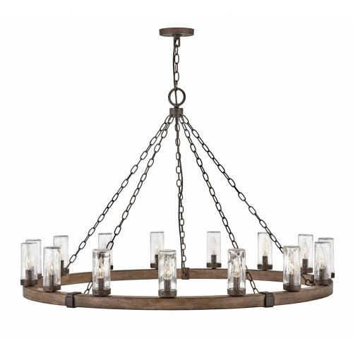 Hinkley Lighting 29209 Sawyer - 15 Light Extra Large Outdoor Hanging Lantern in Rustic Style - 46 Inches Wide by 28.5 Inches High