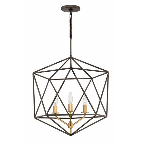 Hinkley Lighting 3023 Astrid - 3 Light Medium Open Frame Chandelier in Transitional Style - 20 Inches Wide by 26.75 Inches High