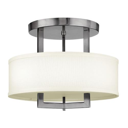 Hinkley Lighting 3200 Hampton - 3 Light Small Semi-Flush Mount in Transitional Style - 15 Inches Wide by 11.75 Inches High