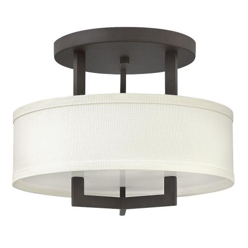Hinkley Lighting 3200 Hampton - 11.75 Inch Semi-Flush Mount