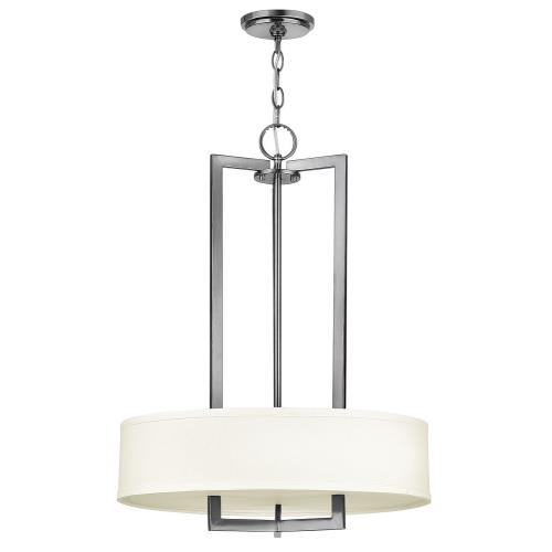 Hinkley Lighting 3203 Hampton - 3 Light Small Drum Chandelier in Transitional Style - 20 Inches Wide by 26.5 Inches High