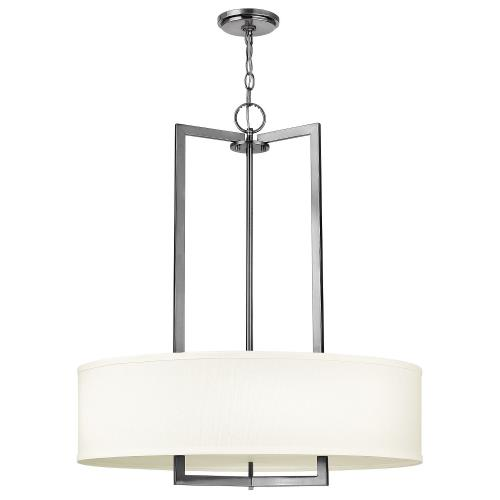 Hinkley Lighting 3204 Hampton - 3 Light Medium Drum Chandelier in Transitional Style - 26 Inches Wide by 30.25 Inches High