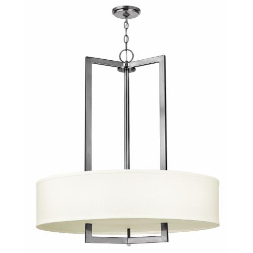 Hinkley Lighting 3206 Hampton - 3 Light Large Drum Foyer in Transitional Style - 30 Inches Wide by 33 Inches High