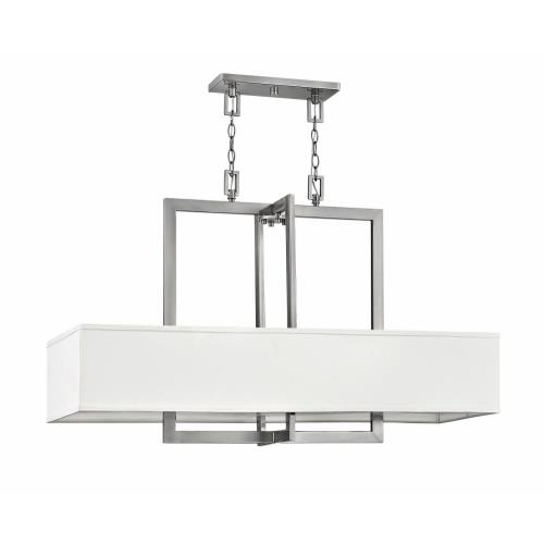 Hinkley Lighting 3218 Hampton - 4 Light Linear Chandelier in Transitional Style - 42 Inches Wide by 26 Inches High