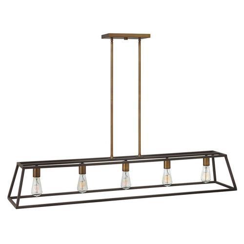 Hinkley Lighting 3335 Fulton - Five Light Linear Chandelier