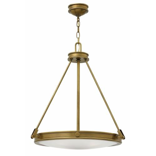 Hinkley Lighting 3384 Collier - 4 Light Medium Pendant in Traditional, Mid-Century Modern Style - 21.5 Inches Wide by 24.5 Inches High
