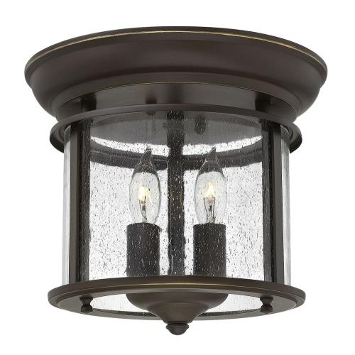 Hinkley Lighting 3472 Gentry - 2 Light Small Flush Mount in Traditional Style - 9 Inches Wide by 9.5 Inches High