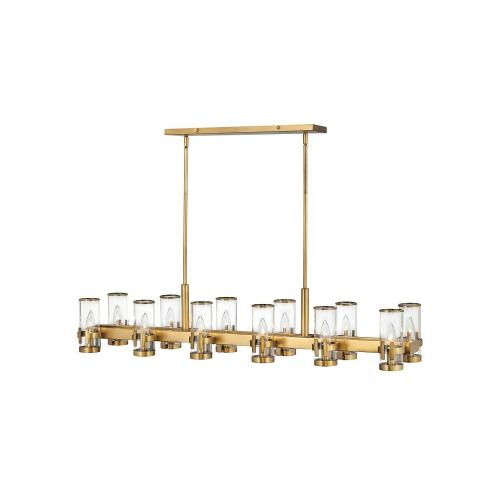 Hinkley Lighting 38108 Reeve - 12 Light Linear Chandelier in Traditional, Transitional Style - 46 Inches Wide by 9 Inches High