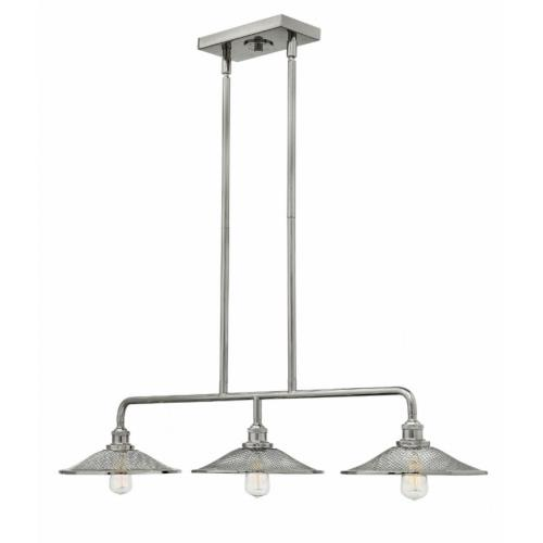 Hinkley Lighting 4364 Rigby - 3 Light Linear Chandelier in Industrial Style - 40 Inches Wide by 7 Inches High