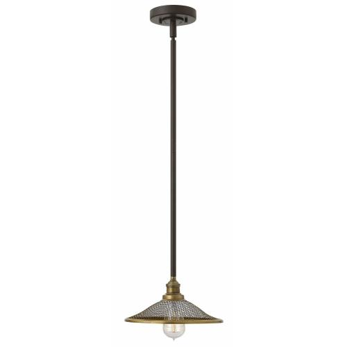 Hinkley Lighting 4367 Rigby - 1 Light Small Pendant in Industrial Style - 10 Inches Wide by 4.3 Inches High