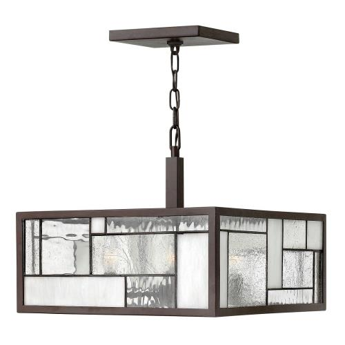 Hinkley Lighting 4571 Mondrian - Four Light Chandelier in Craftsman Style - 16 Inches Wide by 13.25 Inches High