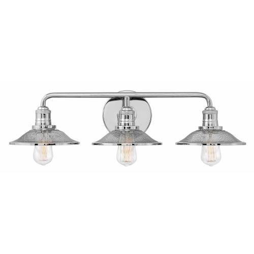 Hinkley Lighting 5293 Rigby - 3 Light Bath Vanity in Industrial Style - 27 Inches Wide by 8.75 Inches High