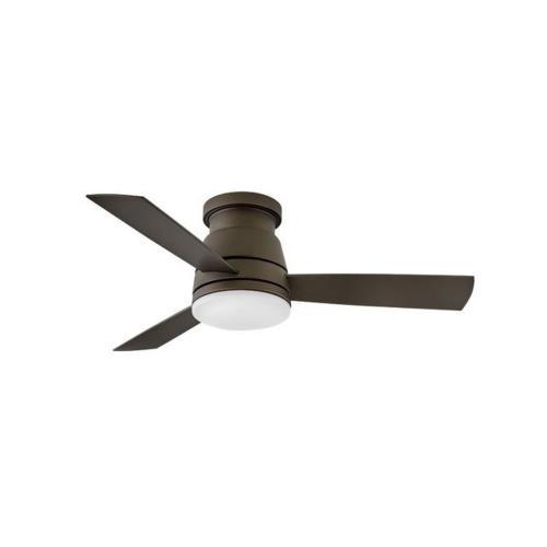 Hinkley Lighting 902744F Trey - 44 Inch 3 Blade Ceiling Fan with Light Kit