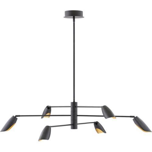Fredrick Ramond Lighting FR35806 Bowery - 50 Inch 36W 6 LED Large Multi-Tier Chandelier