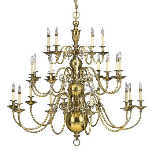 Hinkley Lighting 4419 Cambridge - Extra Large Three Tier Chandelier in Traditional Style - 49.25 Inches Wide by 46 Inches High