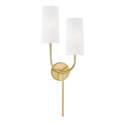 Hudson Valley Lighting 1422 Vesper - Two Light Wall Sconce in Contemporary Style - 10.5 Inches Wide by 26.75 Inches High