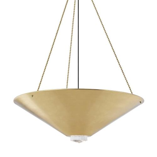 Hudson Valley Lighting 2038 Heron - 38 Inch 120W 6 LED Pendant in Contemporary Style - 38 Inches Wide by 11.75 Inches High