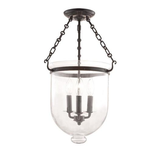 Hudson Valley Lighting 253-116-G1 Hampton - Three Light Flush Mount - 12 Inches Wide by 20.25 Inches High