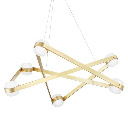 Hudson Valley Lighting 2738 Orbit - 38 Inch 240W 6 LED Chandelier in Contemporary/Modern Style - 38 Inches Wide by 13.75 Inches High