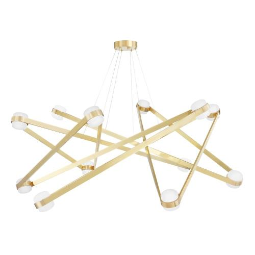 Hudson Valley Lighting 2756 Orbit - 56.13 Inch 480W 12 LED Chandelier in Contemporary/Modern Style - 56.13 Inches Wide by 16.825 Inches High