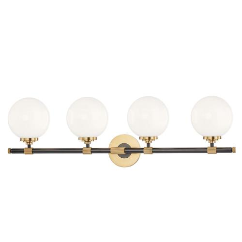 Hudson Valley Lighting 3704 Bowery Four Light Bath Bracket - 32.75 Inches Wide by 10 Inches High