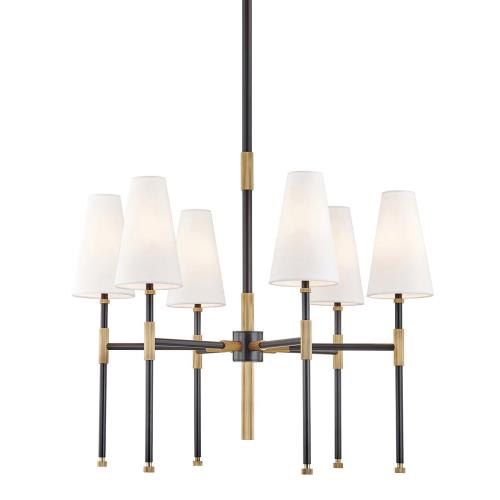 Hudson Valley Lighting 3728 Bowery Six Light Chandelier - 28 Inches Wide by 29.5 Inches High