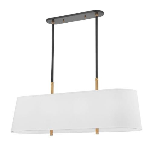 Hudson Valley Lighting 3747 Bowery - Eight Light Linear in Transitional Style - 46.5 Inches Wide by 20 Inches High