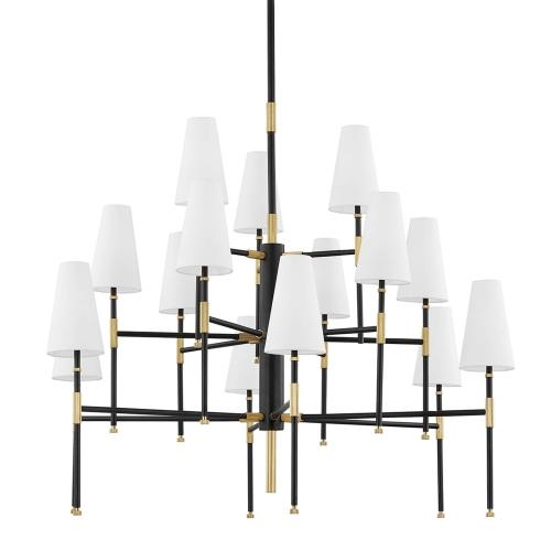 Hudson Valley Lighting 3748 Bowery - 15 Light Chandelier in Contemporary/Modern Style - 48 Inches Wide by 40 Inches High