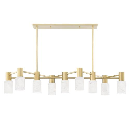 Hudson Valley Lighting 4248 Centerport - Nine Light Linear in Modern Style - 47.5 Inches Wide by 11 Inches High
