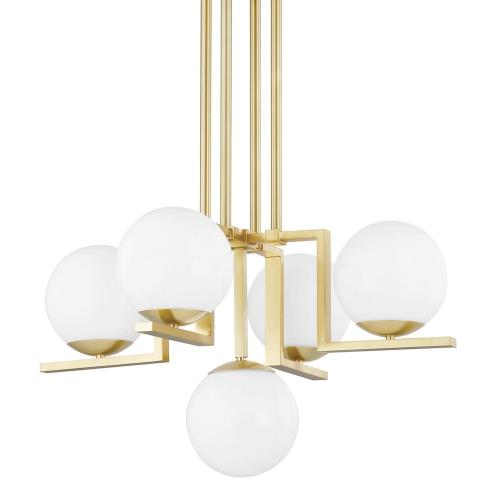 Hudson Valley Lighting 5085 Tanner - 5 Light Chandelier in Contemporary/Modern Style - 30 Inches Wide by 20 Inches High