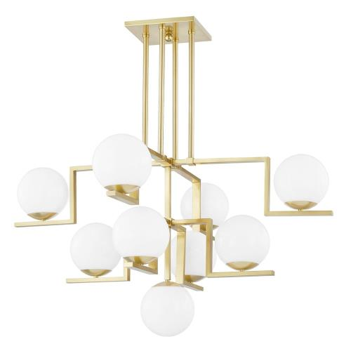 Hudson Valley Lighting 5089 Tanner - 9 Light Chandelier in Contemporary/Modern Style - 46.5 Inches Wide by 28.5 Inches High