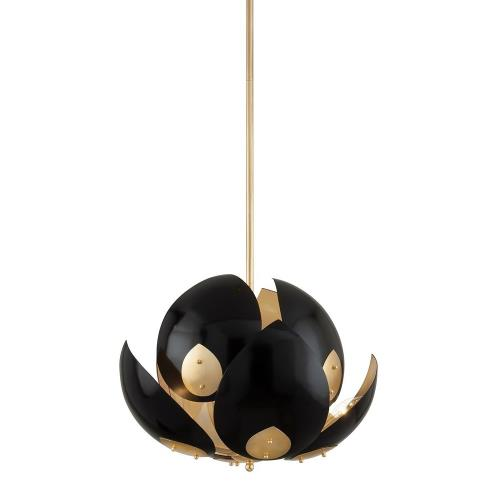 Hudson Valley Lighting 5708 Lotus - Eight Light Chandelier in Modern Style - 24 Inches Wide by 25.25 Inches High